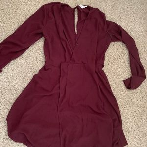 Adorable maroon/red lush dress, barely used